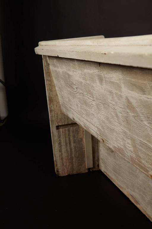 Wood 1890s Whitewashed Church Pew For Sale