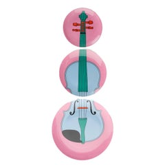 Violin Plates by Michael Craig-Martin