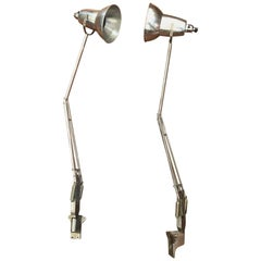 Pair of Vintage Anglepoise Task Lamps by George Cawardine