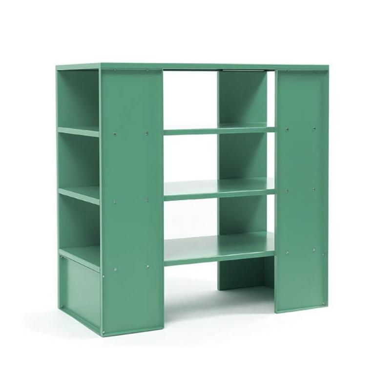 id by bookshelf blue at furniture case judd bookcases for tuquoise turquoise pieces sale minimalist l storage donald f