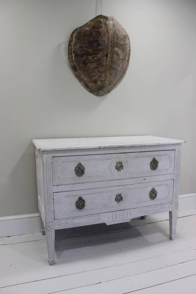 French Louis XVI White-Painted Commode For Sale 1
