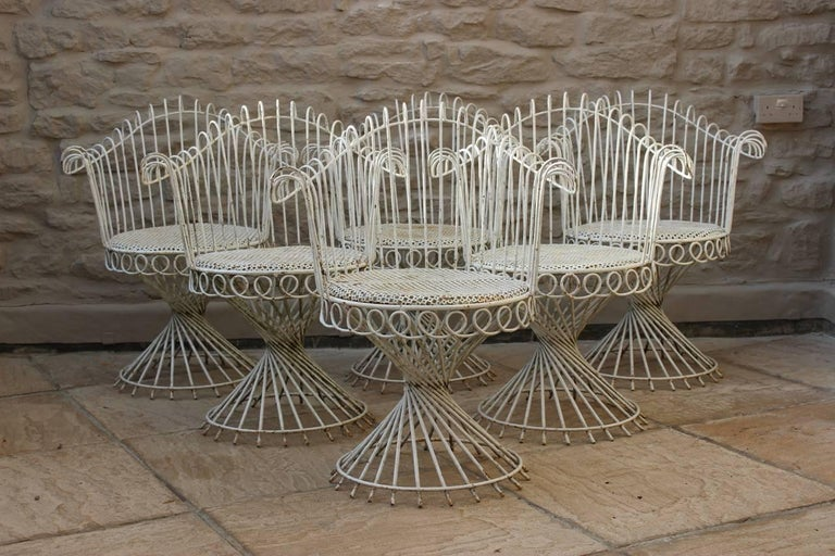 Set of six 39 antheor 39 chairs by mathieu mategot at 1stdibs for French furniture designers 20th century