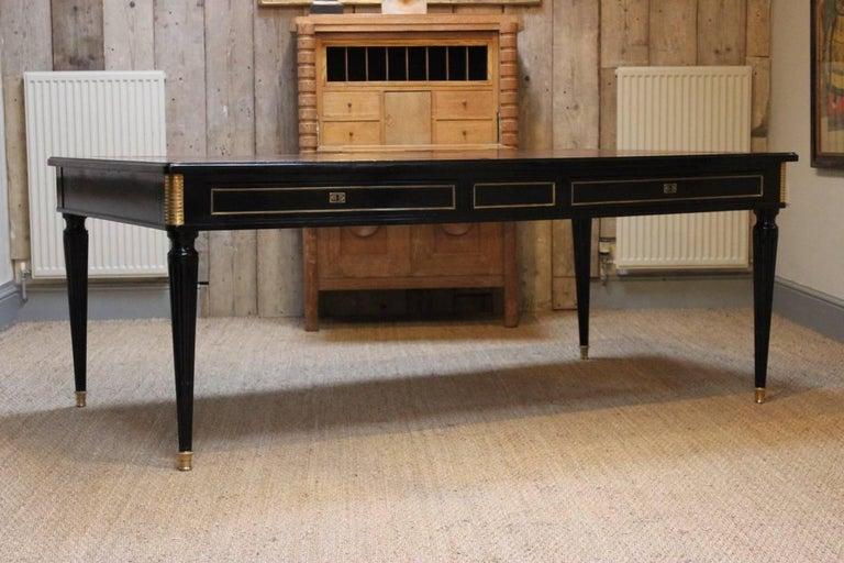 Large Louis Xvi Style Double Sided Ebonized Desk At 1stdibs