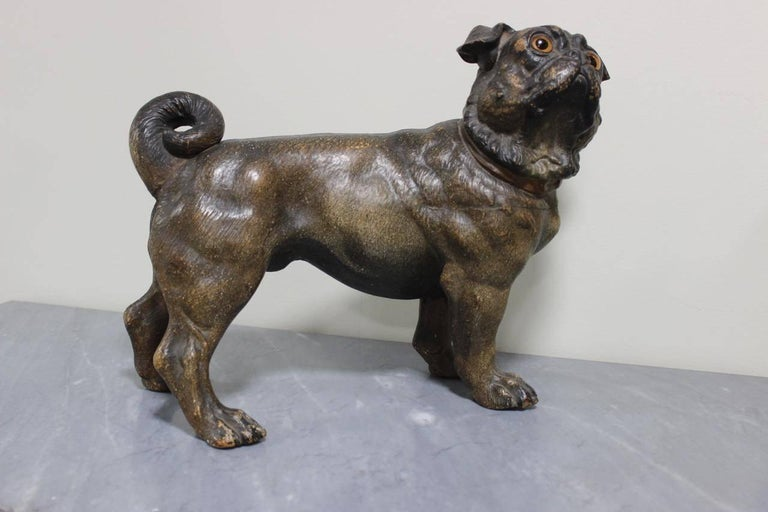 French Early 20th Century Painted Terracotta For Sale 4