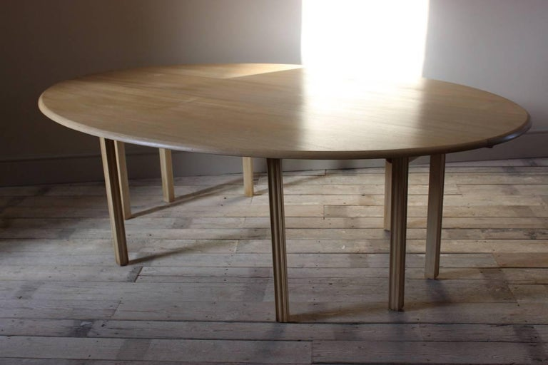 1950s Bleached Mahogany Dining Table For Sale 2