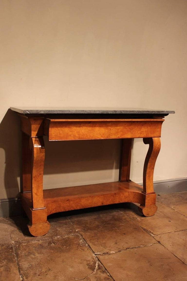 Marble Stylish 19th Century French Ash Console Table For Sale