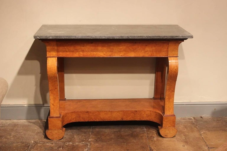 Charles X Stylish 19th Century French Ash Console Table For Sale