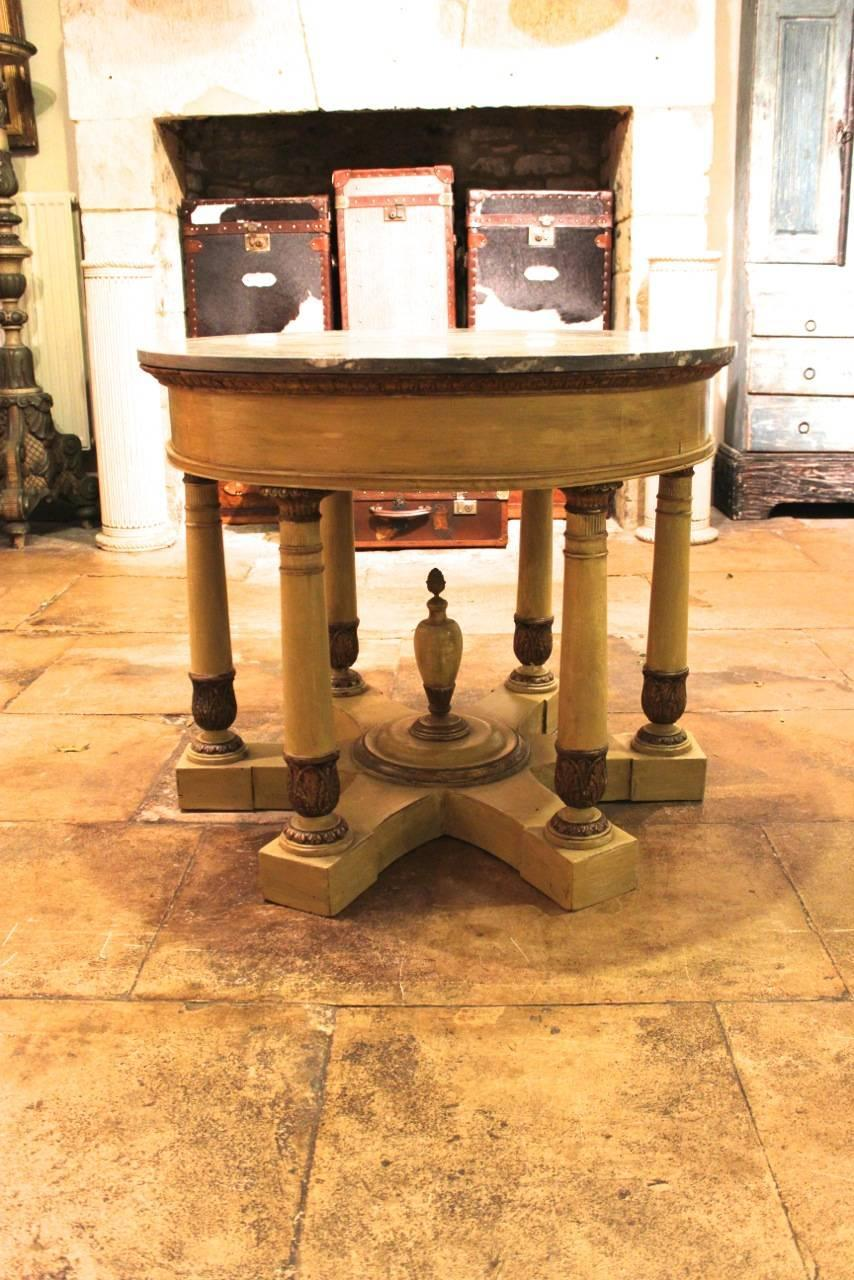 Late 19th century italian neoclassical centre table for for Table th center