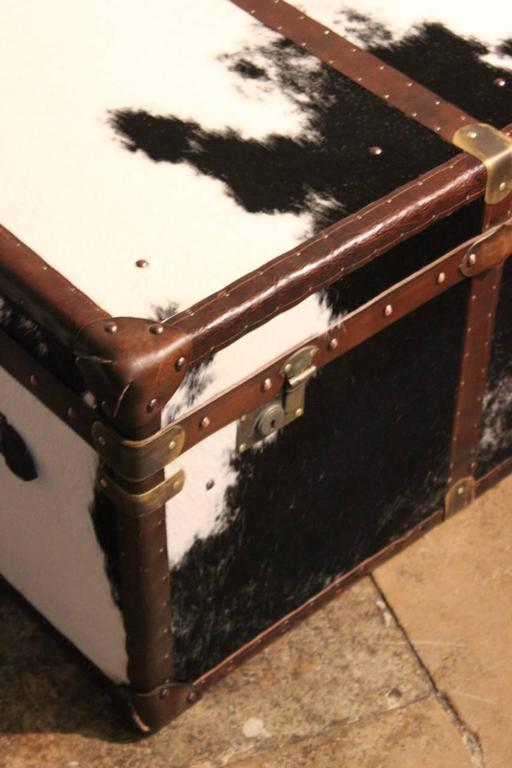 Bespoke Cowhide Trunk / Coffee Table In Good Condition For Sale In  Gloucestershire, GB