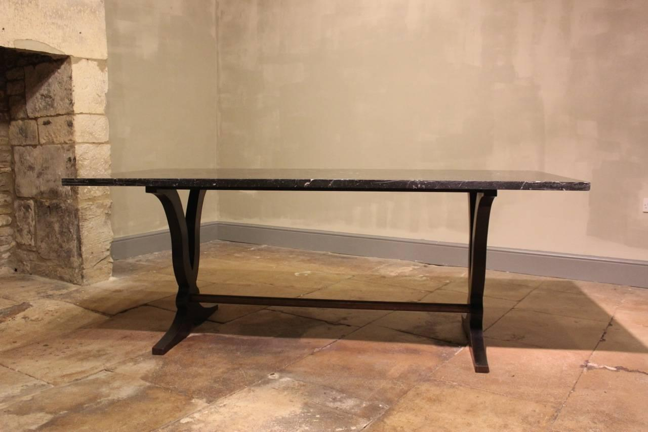 Art Deco Dining Table With Marble Top For Sale At 1stdibs