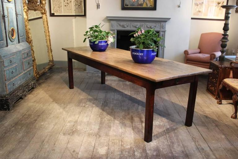 19th Century French Farmhouse Dining Table at 1stdibs