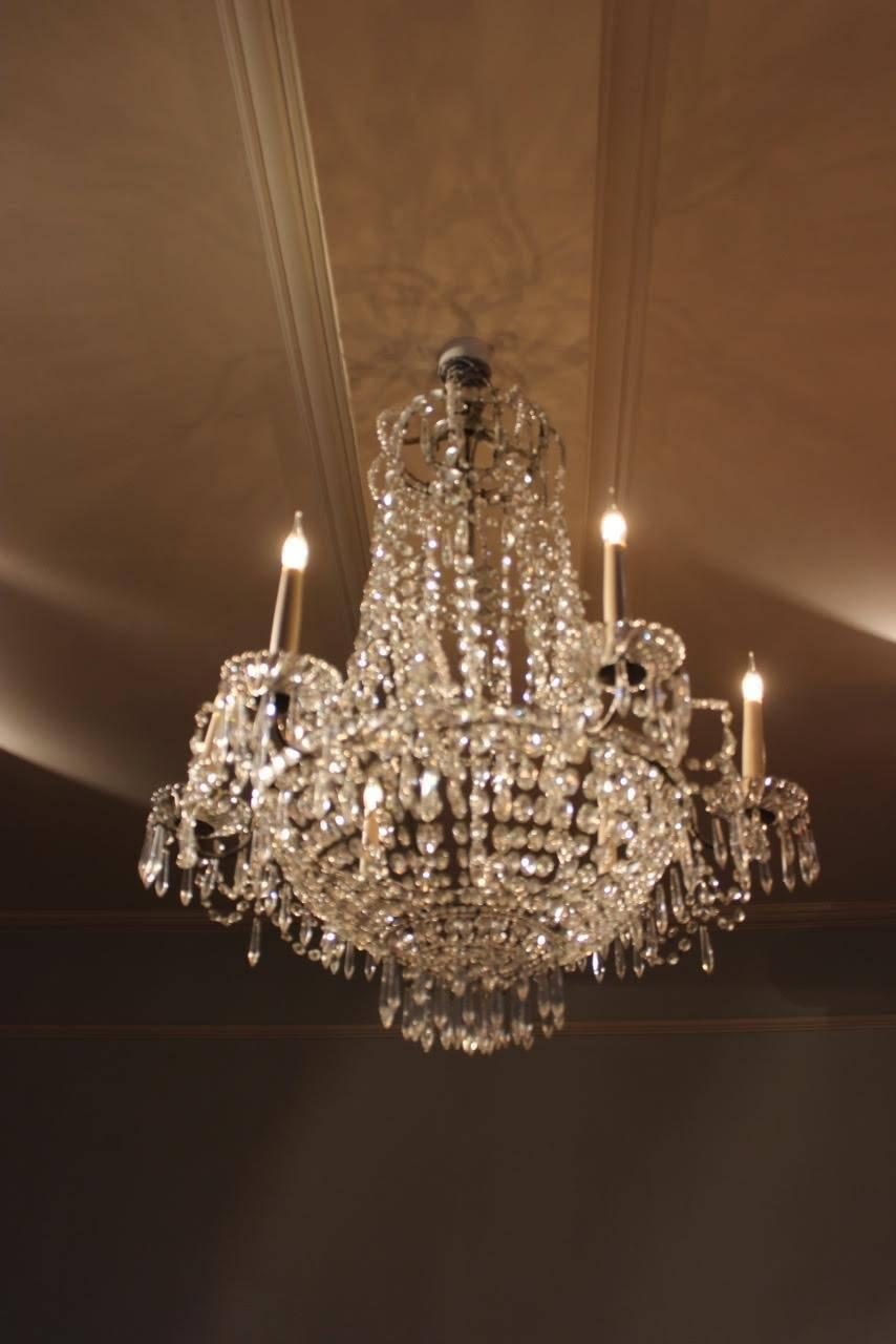 1920s Italian Six Arm Glass Chandelier For Sale At 1stdibs