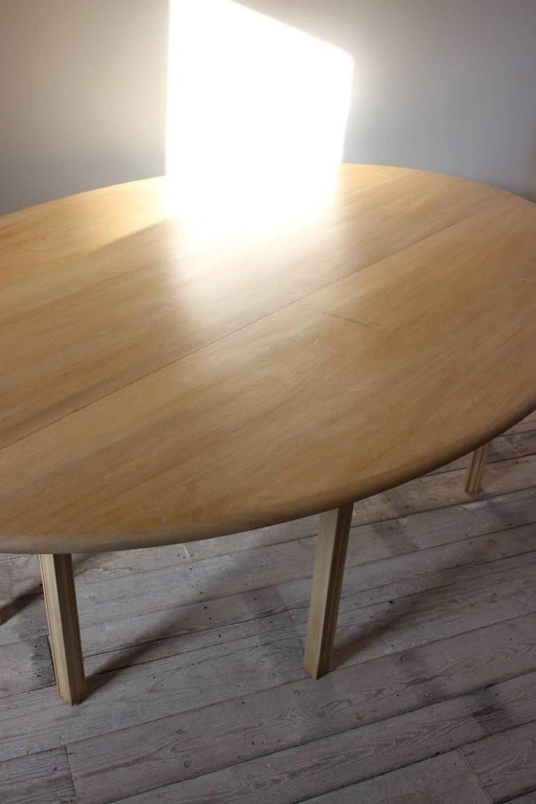 1950s Bleached Mahogany Dining Table In Excellent Condition For Sale In Gloucestershire, GB