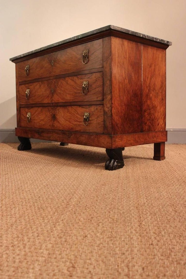 Early 19th Century French Empire Walnut Commode For Sale 2