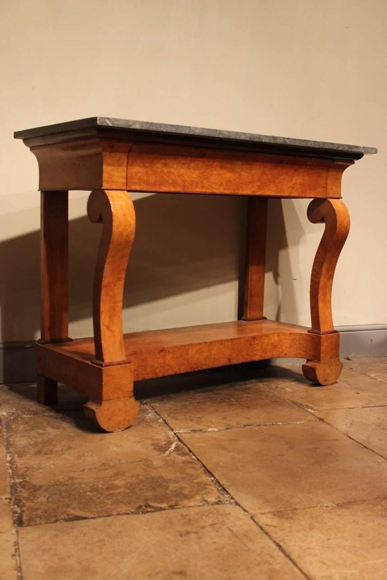 Stylish 19th Century French Ash Console Table For Sale 1