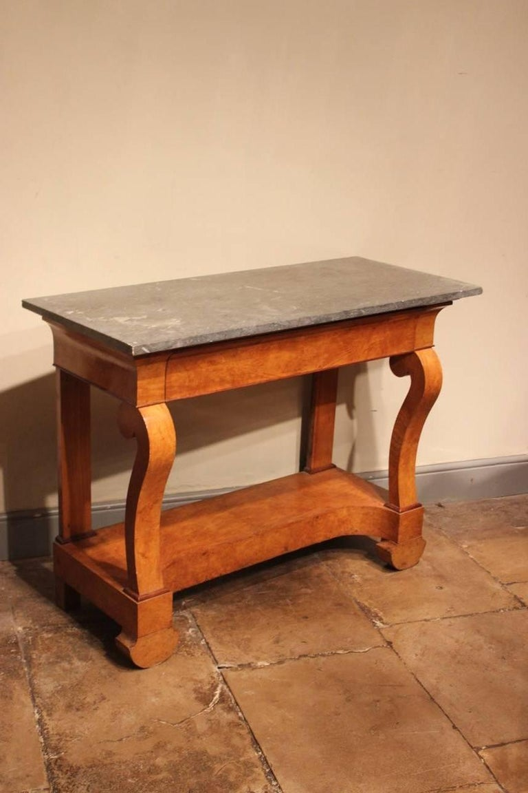 Stylish 19th Century French Ash Console Table For Sale 2