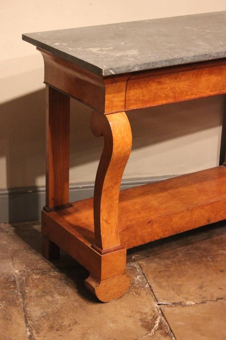 Stylish 19th Century French Ash Console Table For Sale 3
