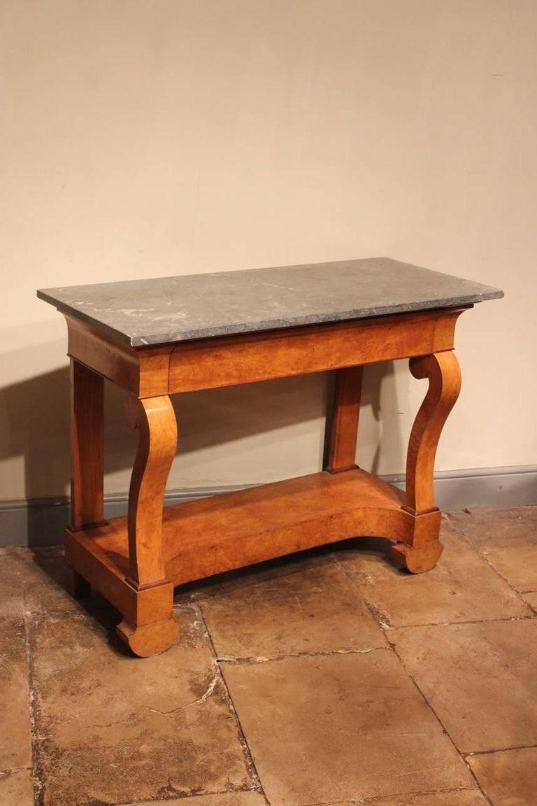 Stylish 19th Century French Ash Console Table For Sale 4