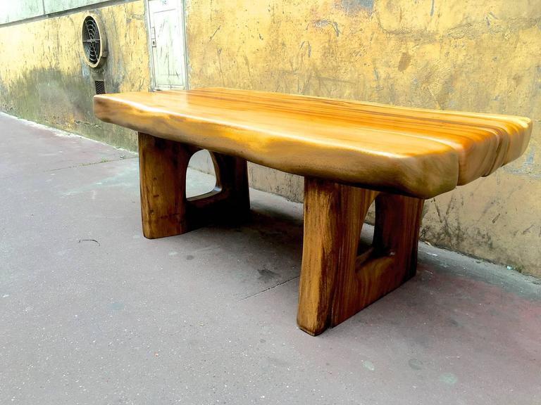 Superb Sturdy Organic Coffee Table In The Style Of Alexandre Noll For Sale At 1stdibs