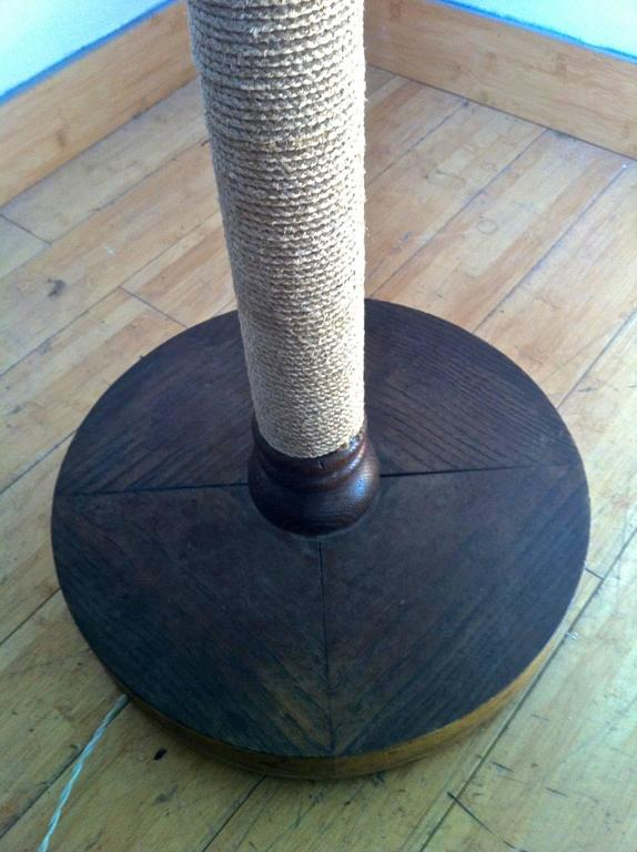French Riviera Rare Modernist Brown Cerused Oak Rope Floor
