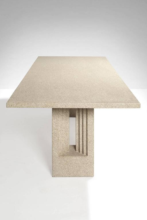 Sculptural table in Terrazzo marble.