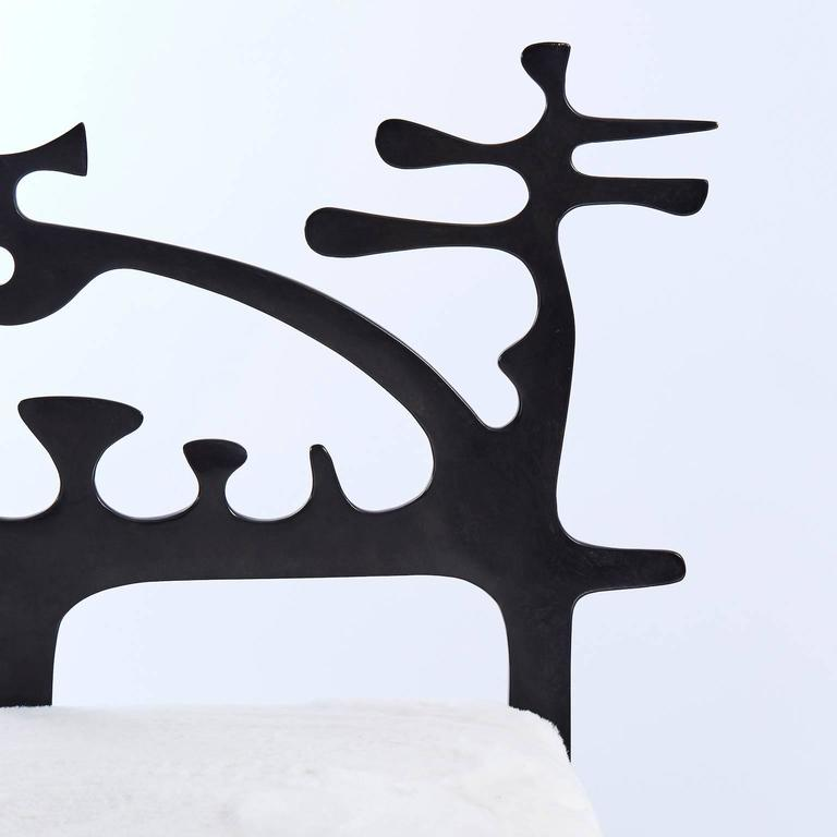 Burnished Surrealist Bronze Daybed by Victor Roman For Sale