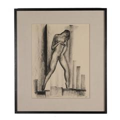 Charcoal on Paper by Boris Lovet-Lorski, 1925
