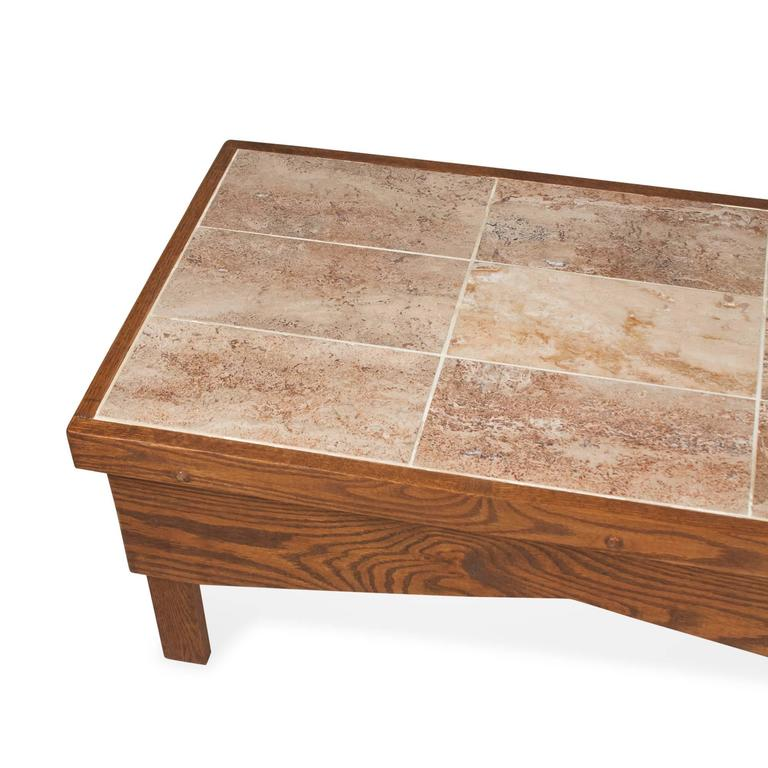 Tile Coffee Table Set: 1970s Ceramic Tile-Top Coffee Table For Sale At 1stdibs
