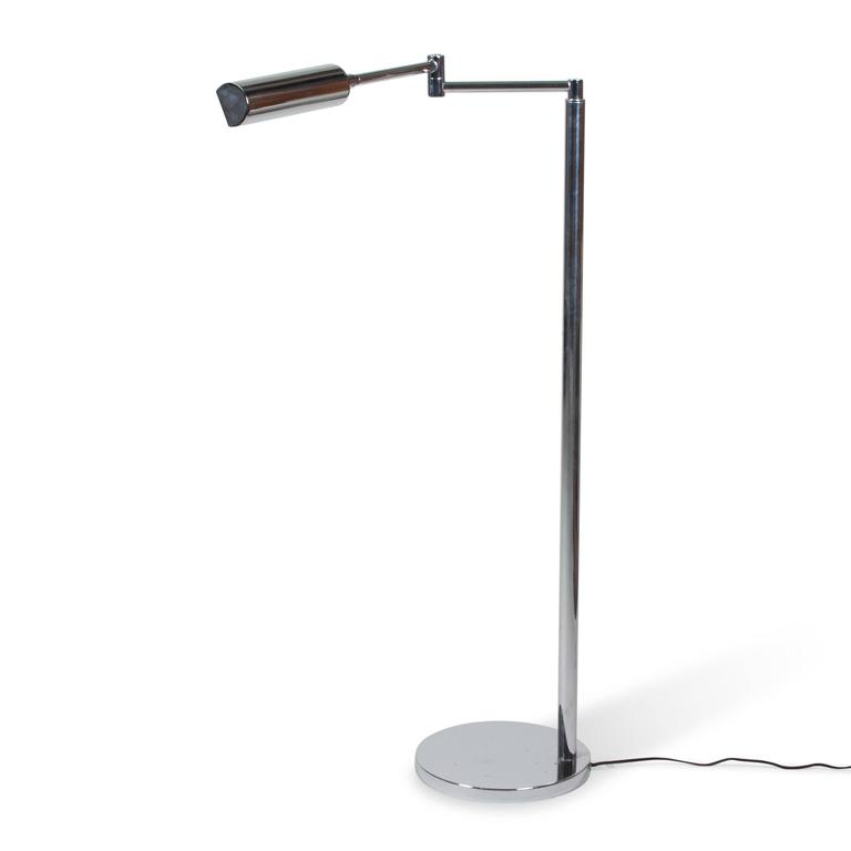 chrome adjustable reading lamp italian 1960s for sale at. Black Bedroom Furniture Sets. Home Design Ideas