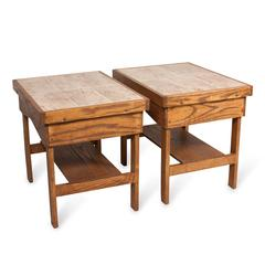 Pair of Ceramic Tile-Top End Tables