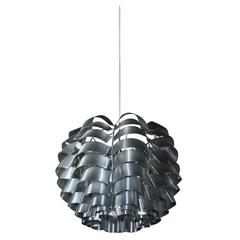 Bent Metal Hanging Fixture by Max Sauze, French, 1960s