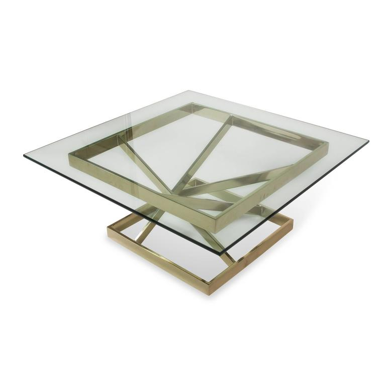 Intersecting Angles Coffee Table, 1990s 2
