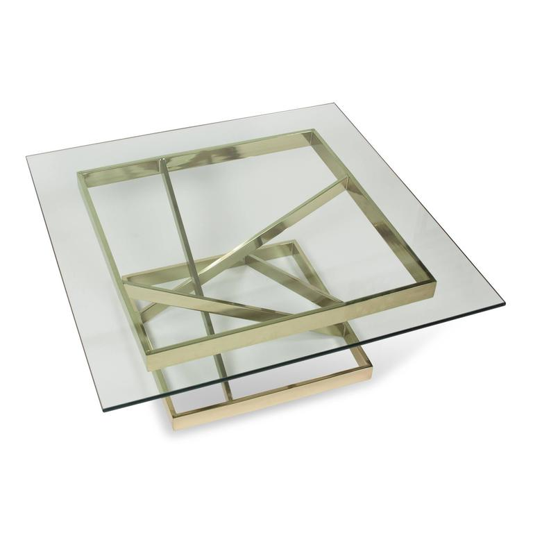 Intersecting Angles Coffee Table, 1990s 6