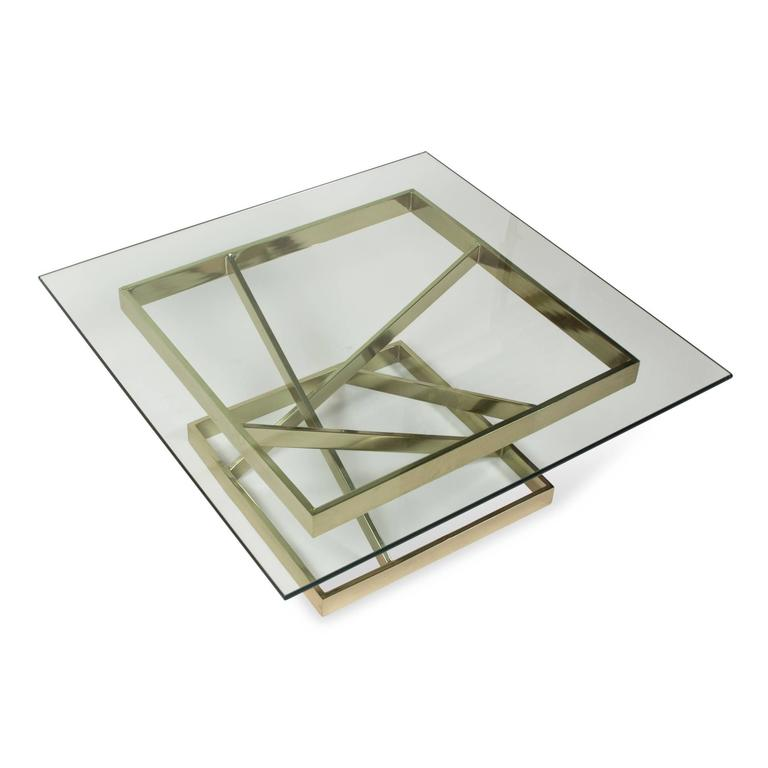 Intersecting Angles Coffee Table, 1990s 7