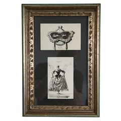 Two Ink Drawings by Eugene Berman, Estate of Vincent Price