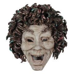 Expressive Ceramic Mask by Eugenio Pattarino