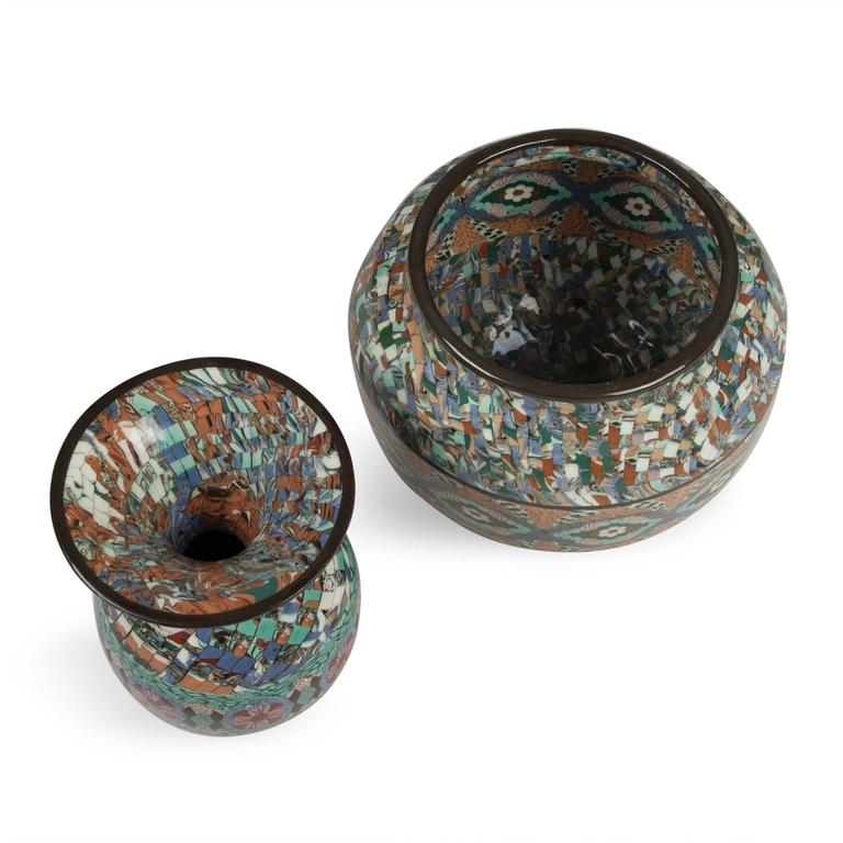Two Mosaic Vases by Gerbino 2