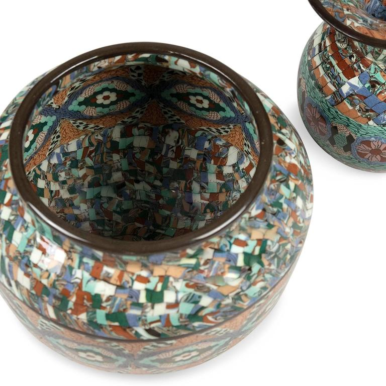 Two Mosaic Vases by Gerbino 4