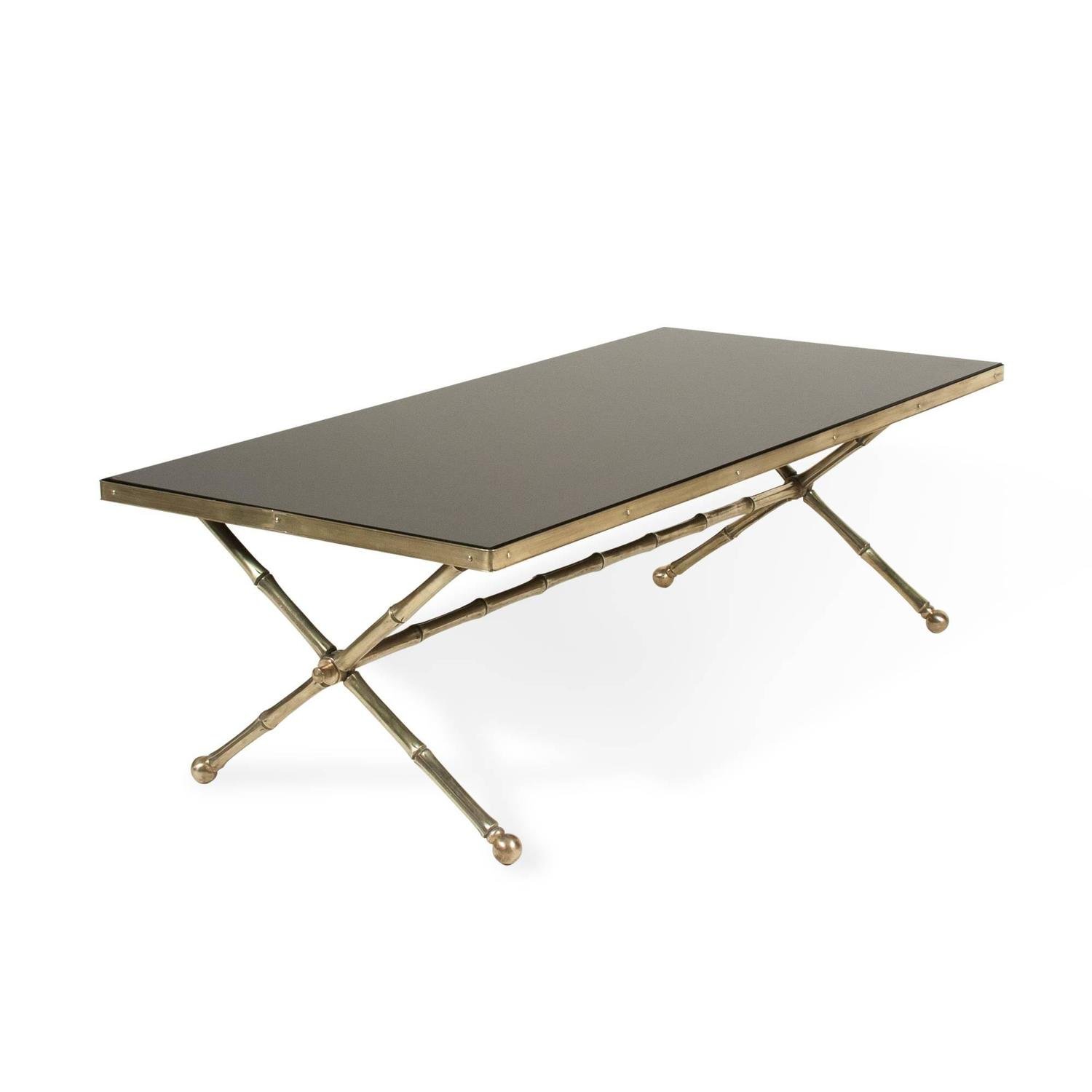 Bagu S Black Glass Coffee Table For Sale At 1stdibs