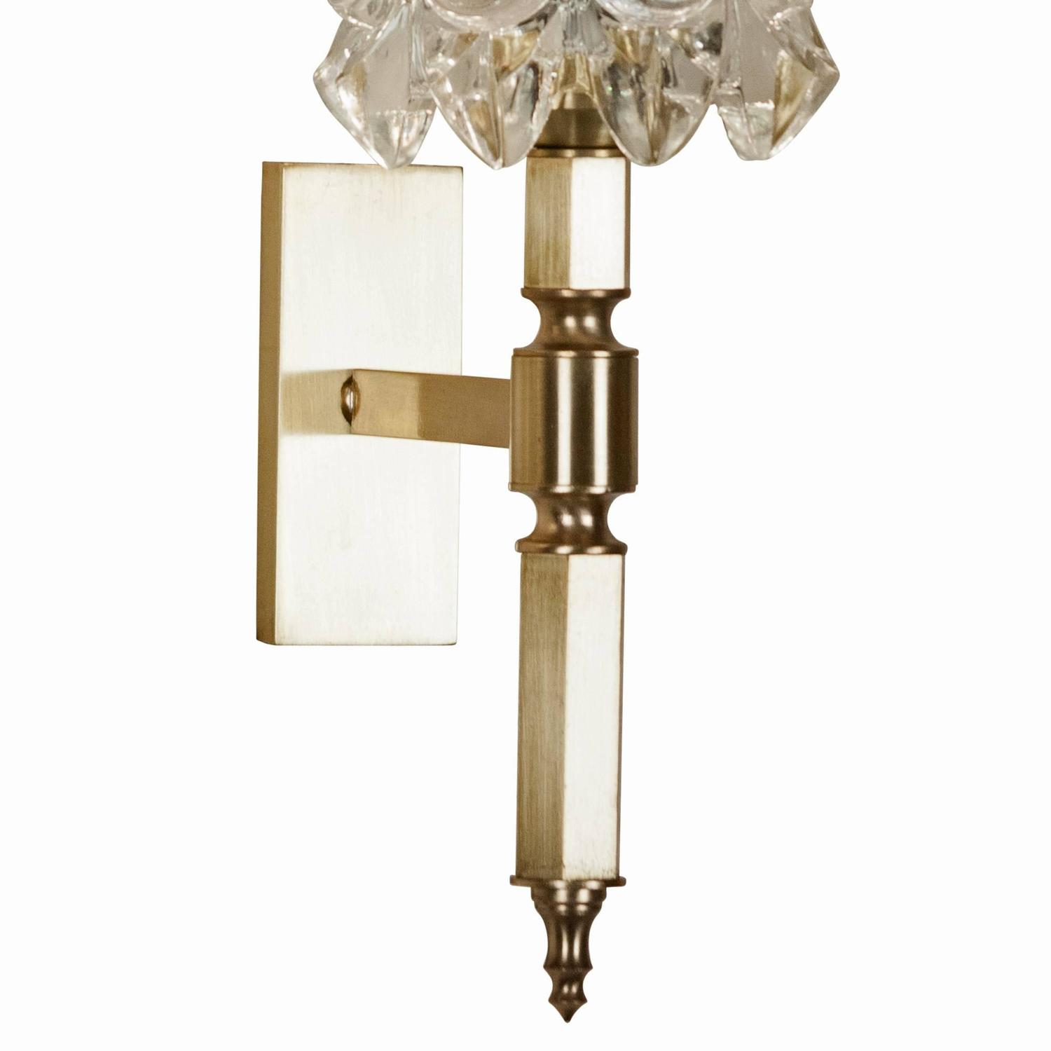 Italian Made Wall Sconces : Pair of Faceted Crystal Wall Sconces, Italian 1960s at 1stdibs
