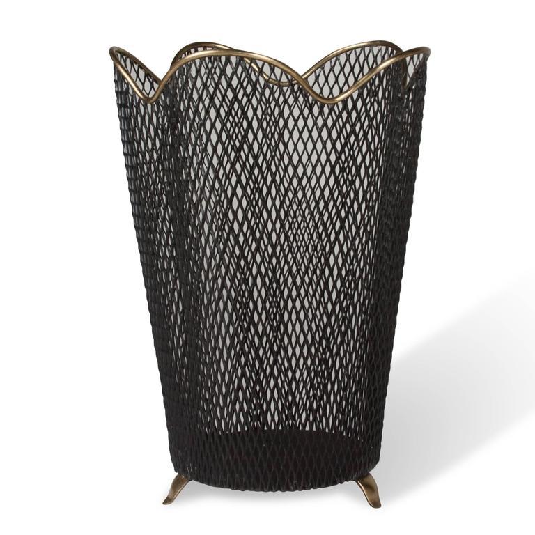 Wastepaper Basket mesh wastepaper basketaubock at 1stdibs