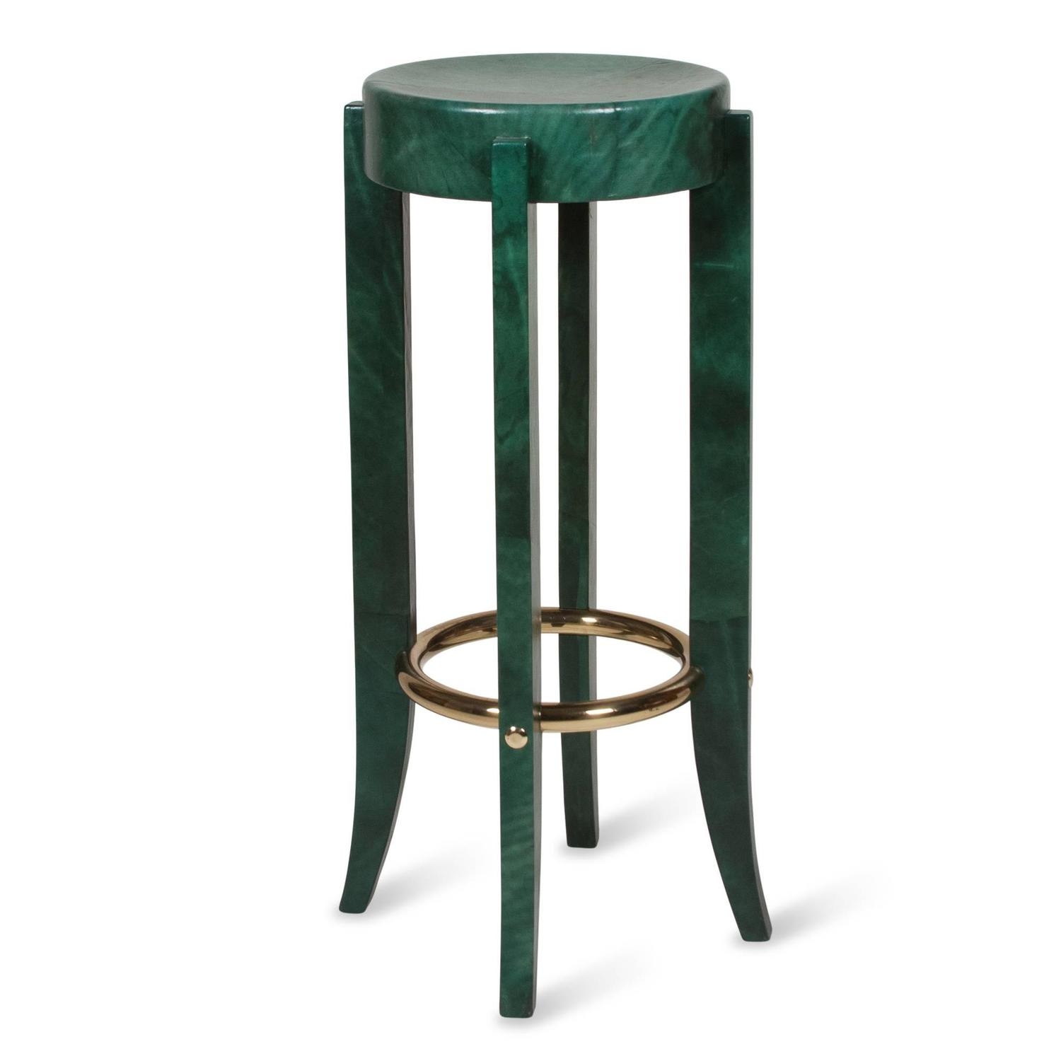 Green Parchment Bar Stool by Karl Springer For Sale at 1stdibs : 41873z from www.1stdibs.com size 1500 x 1500 jpeg 61kB