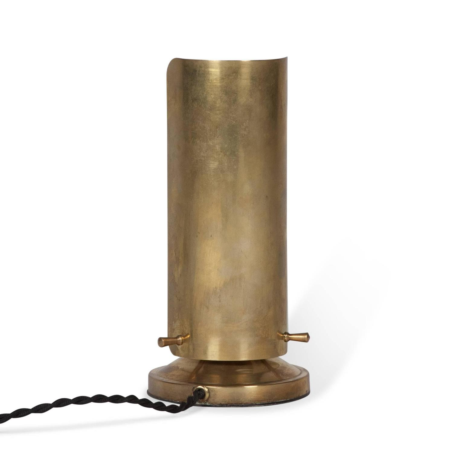 brass and frosted glass desk lamp by boris lacroix french. Black Bedroom Furniture Sets. Home Design Ideas