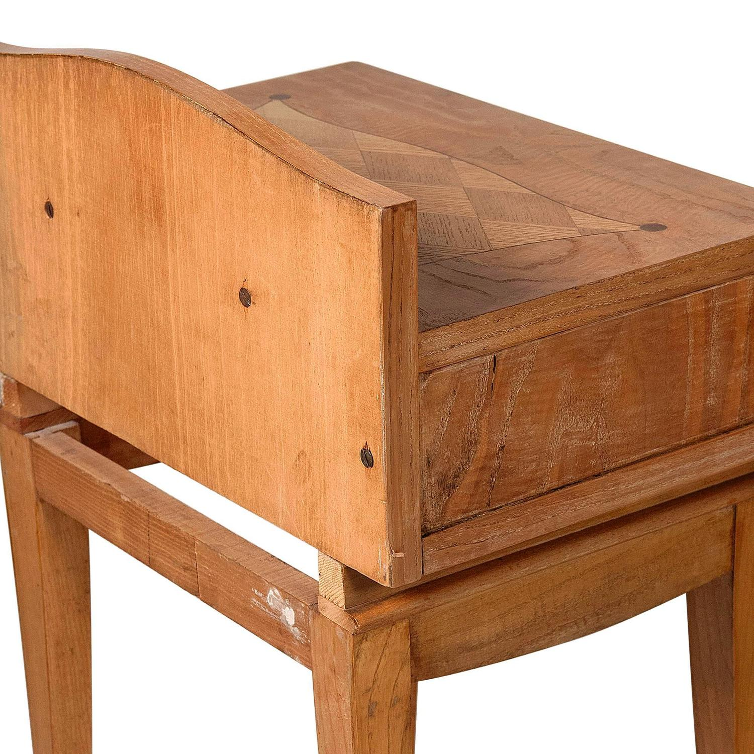 French Oak Inlaid End Tables For Sale At 1stdibs. Full resolution  photograph, nominally Width 1500 Height 1500 pixels, photograph with #481908.