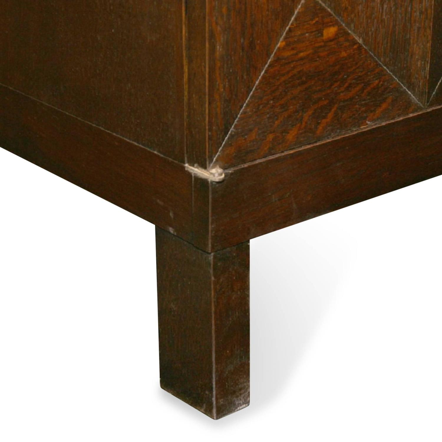 Faceted Face Oak Cabinet By Mi Belgian 1960s For Sale At