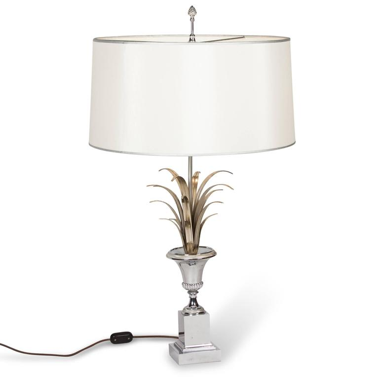 Polished nickel table lamp by charles et cie french for Cie no 85 table 4