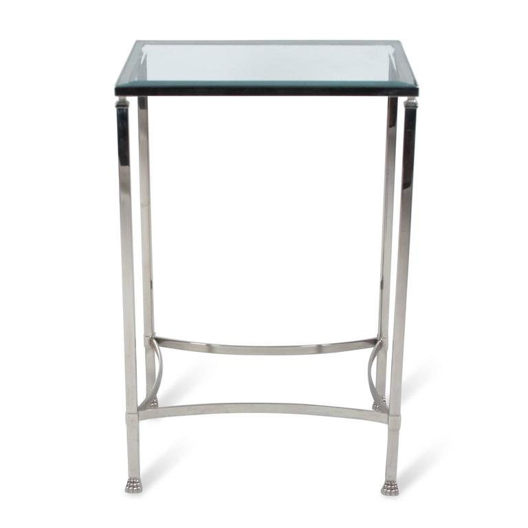 Stainless Side Table with Paw Feet by Philippe Starck 2