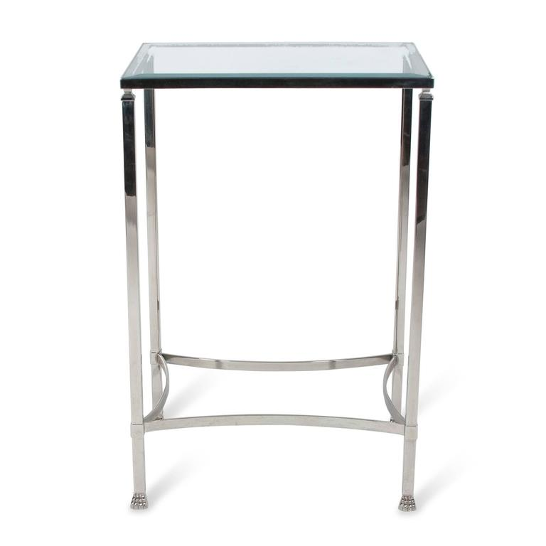 Stainless Side Table with Paw Feet by Philippe Starck 3