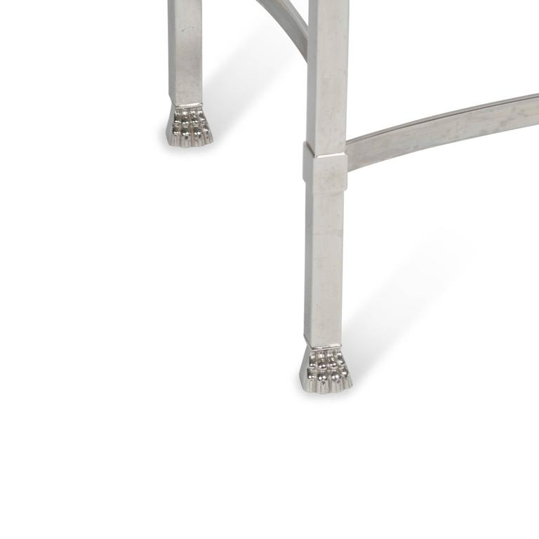 Stainless Side Table with Paw Feet by Philippe Starck 4