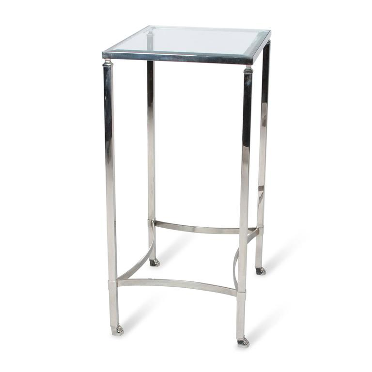 Stainless Side Table with Paw Feet by Philippe Starck 5